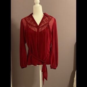 East 5th formal red shirt